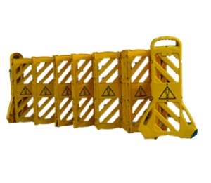foldable barrier | extendable barrier | mobile barrier | collapsible barrier